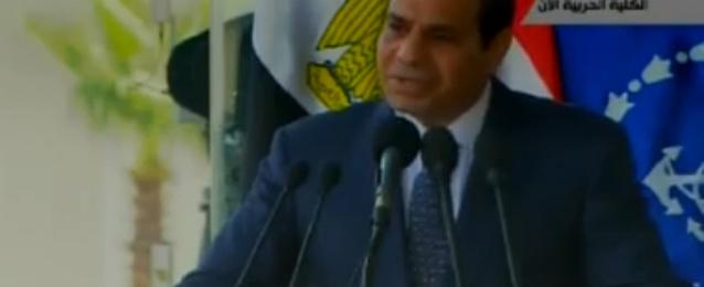 بالفيديو…السيسي: سأتنازل عن نصف راتبي ونصف ممتلكاتي لمصر