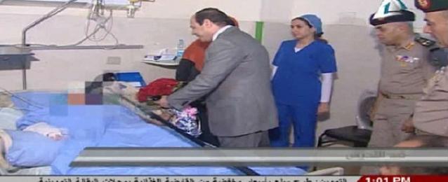 السيسي يزور ضحية التحرش بميدان التحرير