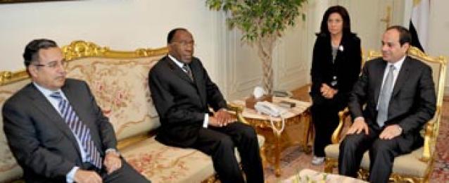 السيسى: مصر لديها تصور لشكل التعاون مع القارة الافريقية