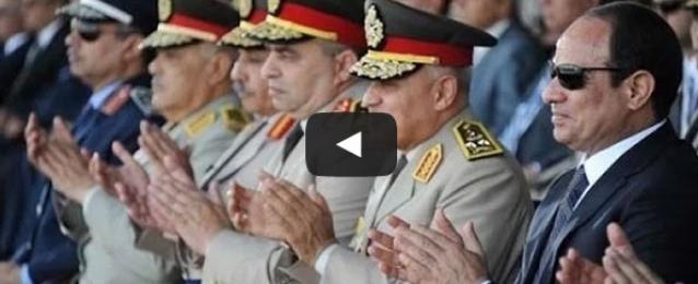 بالفيديو: الرئيس السيسي يشهد الاحتفال بتخريج دفعة جديدة من طلبة كلية الفنية العسكرية