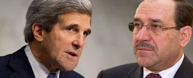 المالكي يبحث مع كيري التطورات الأمنية في العراق
