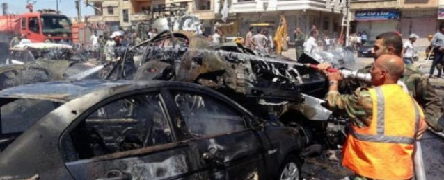 34 قتيلا في انفجار سيارة ملغومة في حماة بغرب سوريا