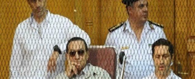 """اليوم ..استئناف محاكمة مبارك ونجليه في """"قضية القرن"""""""