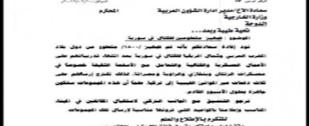 طهران تنشر وثيقة تكشف اعتزام قطر إرسال 1800 مقاتل إلى العراق