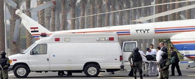 """وصول مبارك لأكاديمية الشرطة لحضور """"محاكمة القرن"""""""