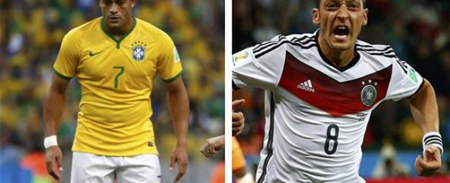 التشكيلة المتوقعة لمباراة البرازيل وألمانيا  في نصف نهائي كأس العالم اليوم في الـ10 مساءً