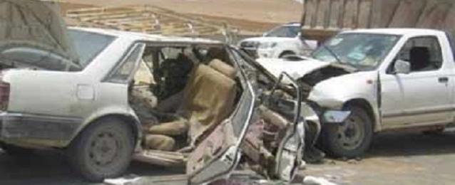 إصابة 10 أشخاص بحادثين بالطريق الصحراوى بالمنيا