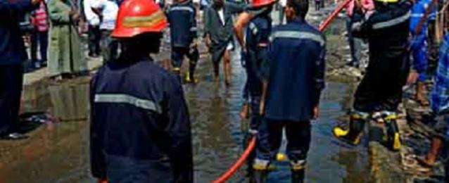 اخماد حريق في عدد من المحلات بالسوق الفرنساوي بالمنشية