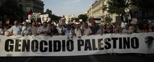 الالآف يتظاهرون بعدة دول أوروبية احتجاجًا على العدوان الإسرائيلي على قطاع غزة