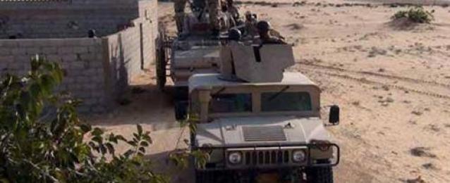 مقتل وإصابة 8 والقبض على 17 إرهابى فى حملة عسكرية بشمال سيناء