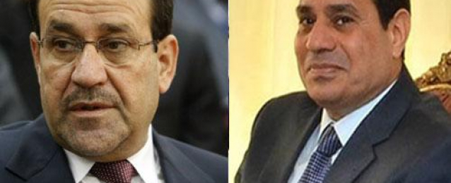 السيسي يستعرض هاتفيًا مع المالكي التطورات السياسية والأمنية الأخيرة فى العراق