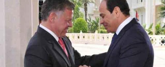 السيسي وعاهل الأردن يبحثان هاتفيًا الأوضاع الراهنة في المنطقة.. ويؤكدان على عمق العلاقات بين البلدين