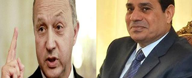 """""""السيسي"""" يلتقي وزير الخارجية الفرنسى بالإتحادية"""