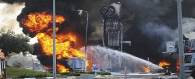 """القسام تقصف مطار""""بن جوريون""""وتعلن قتل 8 جنود إسرائيلين بغزة"""
