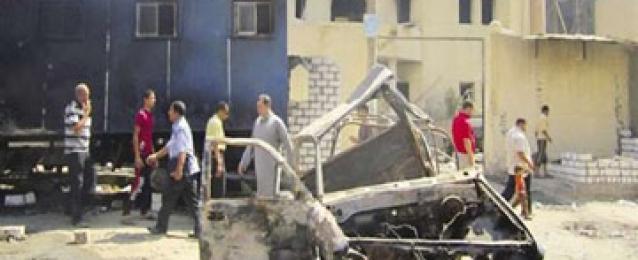 مقتل 3 إرهابيين إثر انفجار سيارة كانوا يستقلونها بمركز الصف بالجيزة
