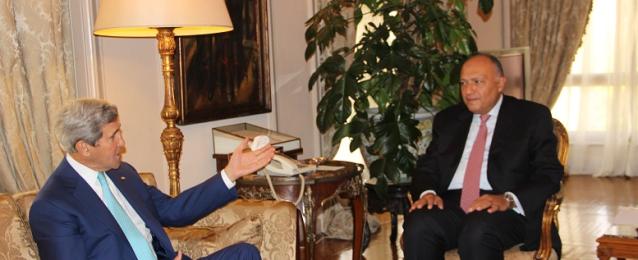 ختام مباحثات وزير الخارجية مع نظيره الأمريكي جون كيري