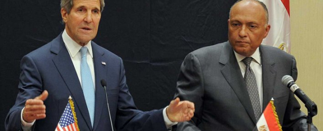 وزير الخارجية ونظيره الأمريكي يبحثان كيفية إحتواء الأزمة الفلسطينية