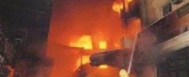 مصرع طفل وإصابة شقيقه ووالدتهما في حريق بشقة سكنية بالقليوبية