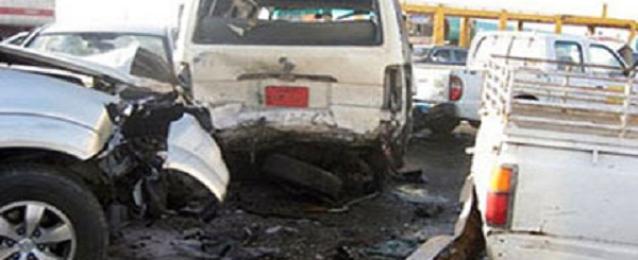 مصرع وإصابة 18 بحادث سيارتين على الطريق الزراعى بالبحيرة