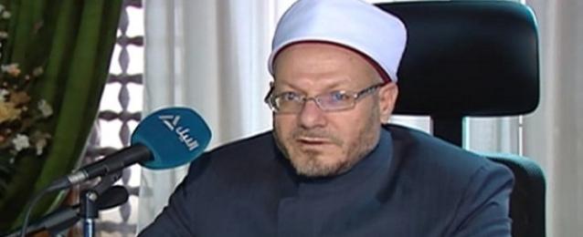مفتي الجمهورية يدعو إلى وقف عاجل وفوري للعدوان الإسرائيلي ضد غزة
