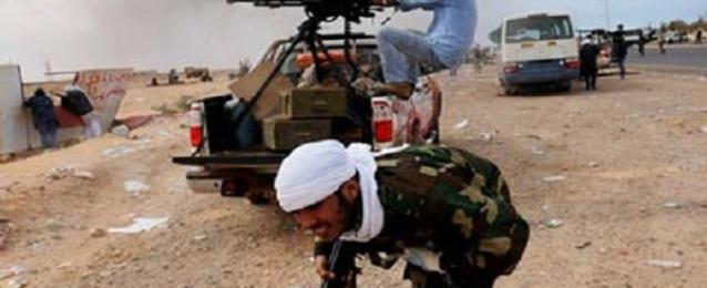مقتل وإصابة 57 شخص باشتباكات قوات حفتر وأنصار الشريعة ببنغازى