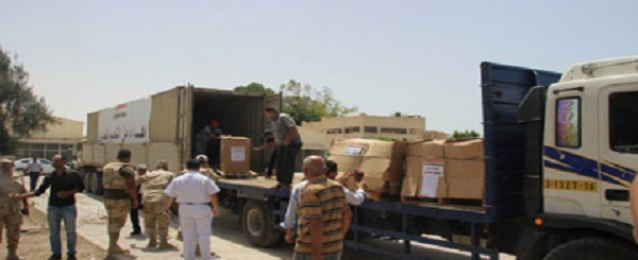 وصول 5 قوافل مساعدات مصرية وعربية إلى ميناء رفح