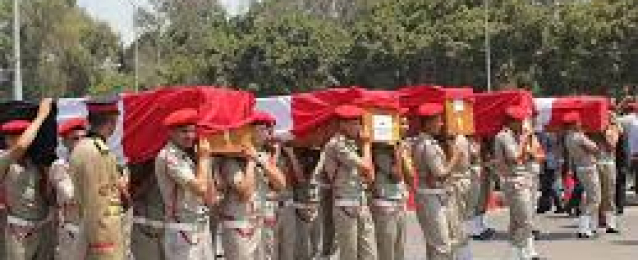 القوات المسلحة تنعي شهداء 'الفرافرة'.. و 'السيسي' يشارك في الجنازة العسكرية لشهداء حادث الفرافرة