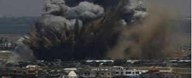 استشهاد 6 فلسطينيين بينهم 4 اطفال بغارتين اسرائيليتين على غزة