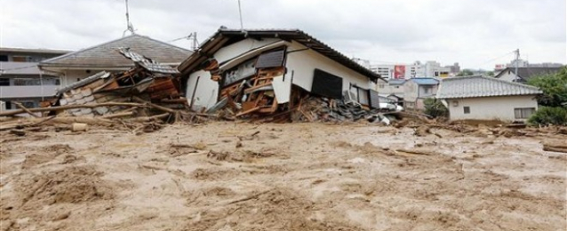 ارتفاع عدد ضحايا الانهيارات الأرضية في هيروشيما إلى 42 قتيلا