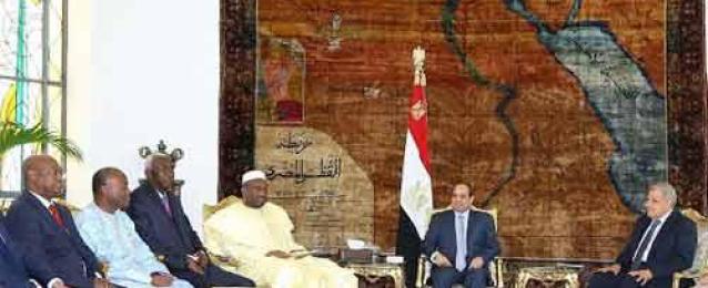 السيسي لرئيس وزراء مالي: مصر تتوجه نحو إفريقيا باعتبارها دائرة أساسية من دوائر السياسة الخارجية للقاهرة