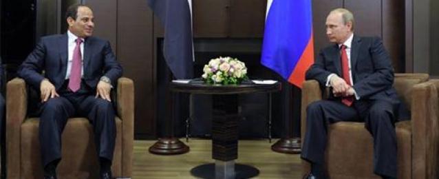 بوتين: اتفقت مع السيسي على توسيع التعاون العسكري