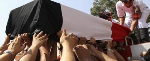 تشيع جثمان شهيد الواجب فى جنازة عسكرية بالغربية