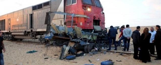 تصادم بين قطار وسيارة بخط ركاب المعمورة – رشيد