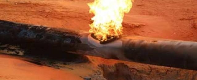 تفجير خط الغاز بمنطقة القريعة بشمال سيناء