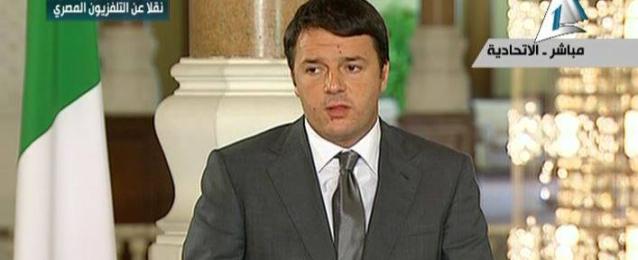 رئيس وزراء إيطاليا يغادر القاهرة