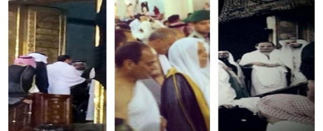 الرئيس السيسي يؤدي مناسك العمرة