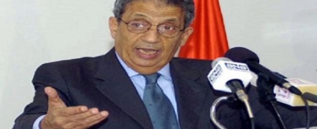 """عمرو موسى يعلن انسحابه من تحالف""""الأمة المصرية"""""""