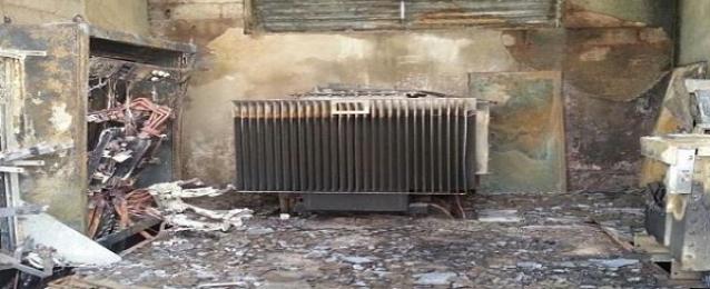 مجهولون يشعلون النار فى غرفة لصيانة خطوط الكهرباء بسوهاج