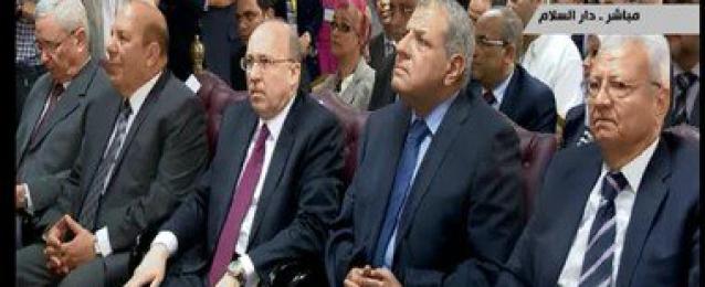 """بالفيديو : محلب يفتتح مستشفى دار السلام """"هرميل"""" بتكلفة 250 مليون جنيه  يرافقة وزير الصحة وعدد من الوزراء والمحافظ"""