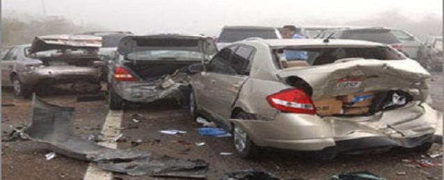 مصرع وإصابة 5 من أسرة واحدة في حادث سيارة بطريق مطروح الإسكندرية
