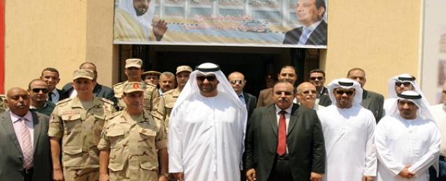 وزير الدولة الإماراتى يتفقد مشروعات المنحة بالقليوبية