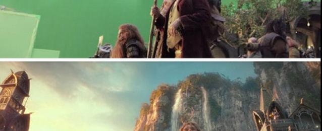 30 صورة لمشاهد من الأفلام قبل و بعد استخدام المؤثرات البصرية