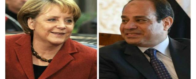 """السيسى لـ""""ميركل """" : المصريون لهم الكلمة فى اختيار من يمثلهم فى البرلمان الجديد"""