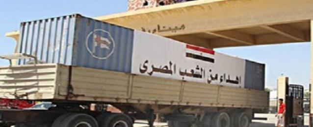 القوات المسلحة ترسل 200 طن مواد غذائية لقطاع غزة