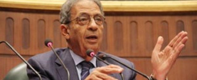 عمرو موسى يناقش فى البحرين الأوضاع في المنطقة العربية