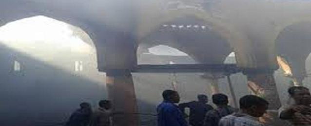 وزير الآثار يتفقد الأوضاع بمسجد العمري بعد تعرضه لحريق في الخميس الماضى