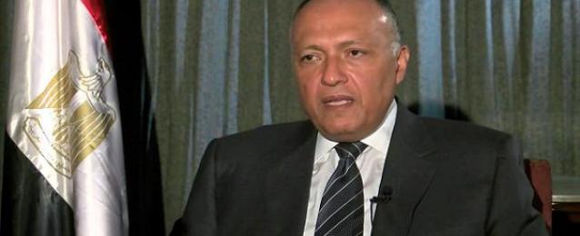 وزير الخارجية ونظيره البحرينى يبحثان تعزيز العلاقات بين البلدين