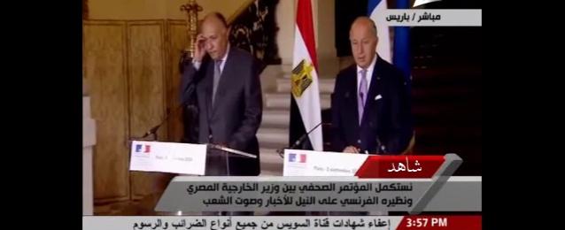 شكري: مصر تتطلع إلى مزيد من التعاون مع فرنسا.. ويجب احتواء معاناة الشعب الفلسطينى