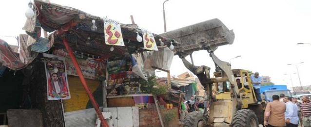 محافظ الجيزة يقود حملة لازالة الإشغالات بالوراق وإمبابة