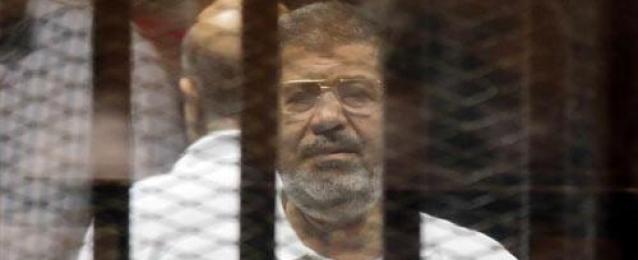 """تأجيل محاكمة مرسي فى قضية"""" الاتحادية"""" لجلسة الغد لاستكمال مرافعة النيابة"""